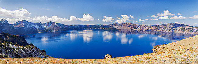 Crater Lake panorama, print of Crater Lake